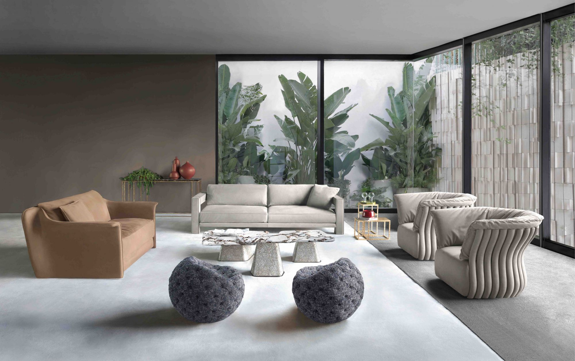 The Cannes collection featured in an elegant living room